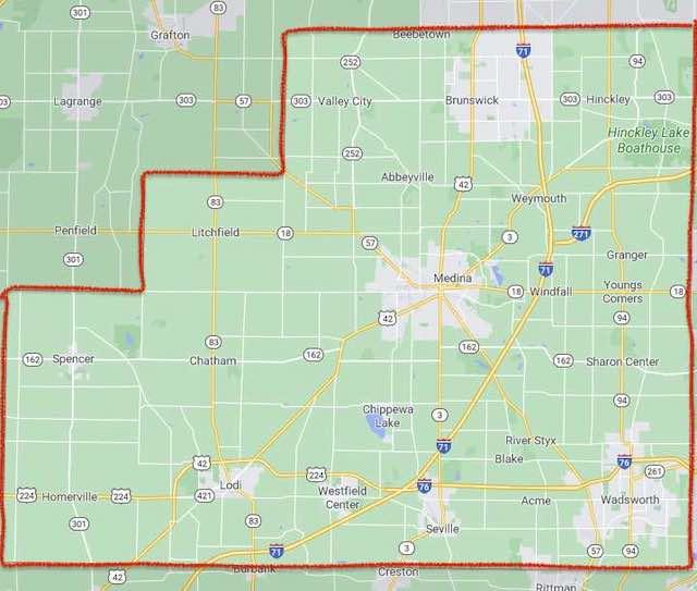 brunswick map - sell your house fast brunswick ohio