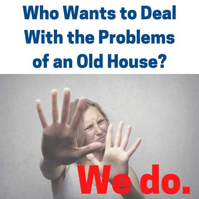 woman scared - we buy old houses
